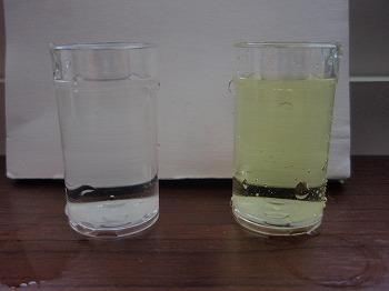 浄水のみ(左) 水道水(右)